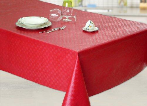 Nappe toile cirée PVC Rectangulaire Metrage 140 x 180 cm Rouge