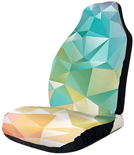 Schapen Kleurrijke Geometrische Driehoek Auto Voorstoel Covers, Past Bijna Auto's, Vrachtwagens, Vans, SUV 1 PCS Als afbeelding