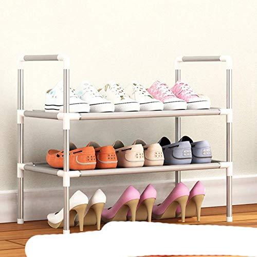 Simple Multi capa zapatero Nonwovens fácil montar estante de almacenamiento metal de pie DIY zapatos gabinete sala re-HH438100CS1