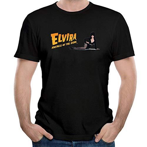 HAIZHENY Herren Elvira and Girl Logo Cotton T-Shirt Tee Large