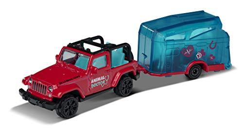Majorette Coche de Juguete Pink Drivez Jeep Wrangler con Caballo, Rueda Libre y Partes móviles de 13 cm, Color Rosa, para niños y niñas a Partir de 3 años