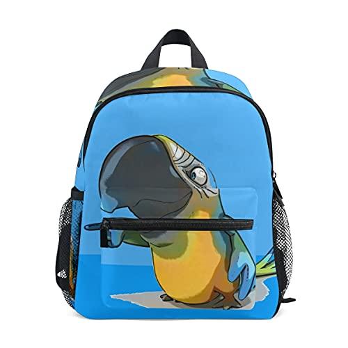 Mini mochila escolar 97 bolso de la universidad para niños niñas divertido loro