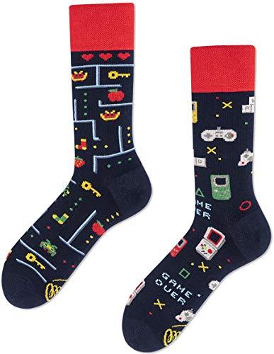 Many Mornings unisex Socken Game Over Spielersocken (Game Over, numeric_43)