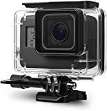 DESTELLO® Go Pro Underwater Housing Waterproof Case Diving Protective Shell Accessories Cover with Bracket for GoPro Hero 7 Black for 2018 Model ONLY Hero 6, Hero 5 Action Camera.Not for 8 gopro