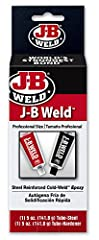 J-B WELD ORIGINAL PRO SIZE: Professional 5 OZ Tubes of the Original Cold Weld two-part epoxy system that was designed as an alternative to torch welding. J-B Weld Original provides strong, lasting repairs to multiple surfaces and creates a bond stron...