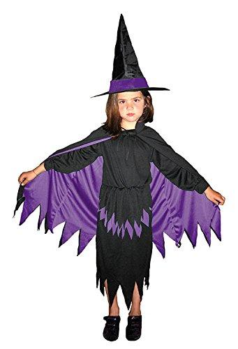 Costume strega lilla bambina taglia da 8 a 10 anni - HALLOWEEN