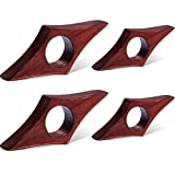 4 Pieces Wooden Book Page Holder Thumb Wood Book Holder Handmade Wood Reading Bookmark Accessory for Bookworm Book Lover Gifts, 2 Sizes