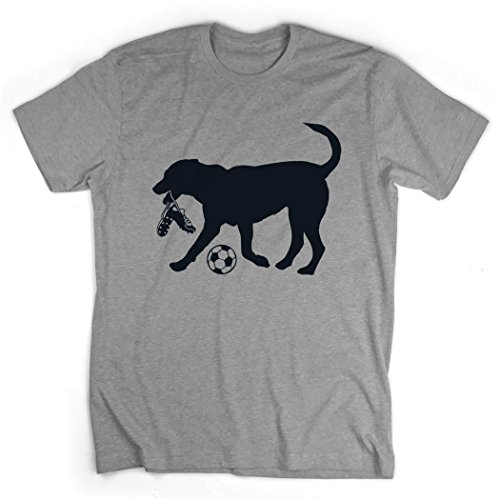 Spot The Soccer Dog T-Shirt | Soccer Tees by ChalkTalk Sports | Gray | Adult Large