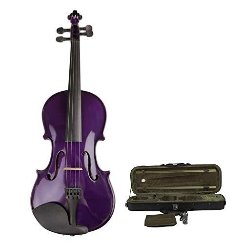 Sunxwen-WT Violini Violino Viola Lucido Fatto a Mano Viola for Violino, Principianti, Misure Multiple, Kit di Violino in Legno massello di Abete Rosso Naturale con Custodia Rigida 4/4, 3/4,1/2,1/4