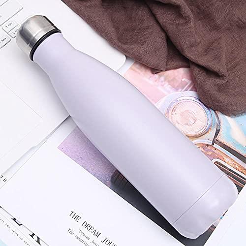 Leftroad Botella de Agua con tapón de Rosca de Aluminio,Frasco de vacío de Botella de Coca-Cola de Acero Inoxidable-I (2 Piezas) _500ml,Taza Termo Simple