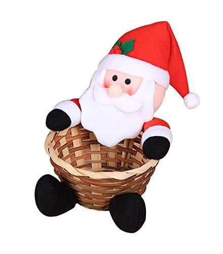 equival Decoración navideña Cesta de Dulces para niños Cesta de Dulces de Gran tamaño Decoración de Escritorio Usual