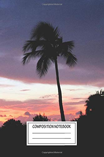 Composition Notebook: Landscapes At The Gazebo Sunsets Wide Ruled Note Book, Diary, Planner, Journal for Writing