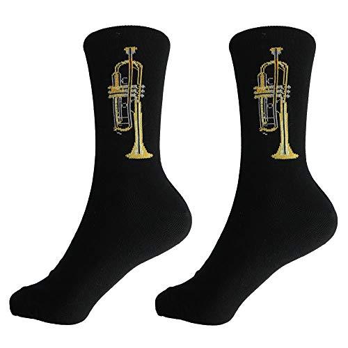 mugesh Musik-Socken Trompete (46/48) - Schönes Geschenk für Musiker