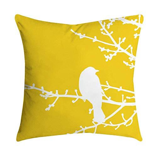 Fundas de cojín para sofá o cama, decorativas y sencillas, diseño geométrico, color amarillo, prácticas y prácticas