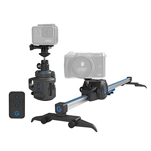 Grip Gear Movie Maker 2 Set - Elektronischer Kamera-Schieberegler in Taschengröße und 360 ° -Panorama-Zeitrafferkopf Ideal für die Erkundung von Städten und Ländern Passt in einen Tagesrucksack