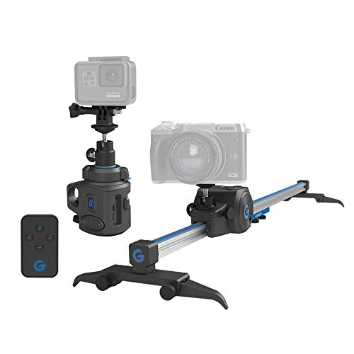 Electronic Camera Slider & 360° Panoramic time Lapse Head for Camera Motion Control