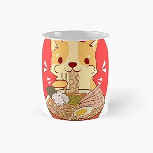 Corgi Ramen I Love Corgi And Cat I Classic Mug - 11 Ounce For Coffee, Tea, Chocolate Or Latte.