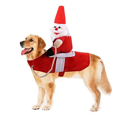 EFINNY Haustier Santa Weihnachten Kostüme Hund warme Kleidung Party Dressing Up Cosplay Kleidung