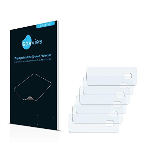 6x Savvies SU75 UltraClear Displayschutz Schutzfolie Philips GoGear Mix 2011 (Kristallklar, Blasenfreie Montage, Passgenauer Zuschnitt)