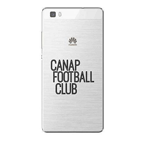 ZOKKO - Carcasa para Huawei P8 Lite Sofá, Fútbol Club – Suave Transparente Tinta Negro