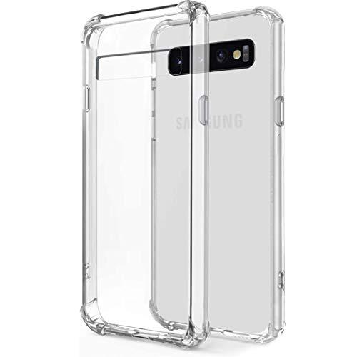 iMoshion kompatibel mit Samsung Galaxy S10 Plus Hülle – Shockproof Hülle Handyhülle – Silikon Schutzhülle in Durchsichtig/Transparent [Verstärkte Ecken, Stoßfest, Dünn]