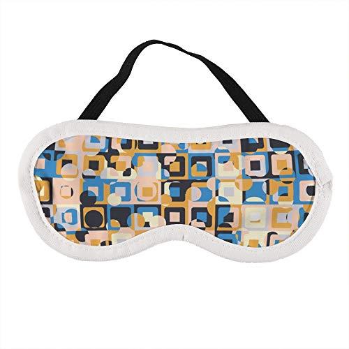 Gemaakt van Concentrische Pleinen met Chaotische Kleurplaten Slaapoog Masker Slapende Maskers Blinddoek Katoen Oog Kussen Zacht voor Vrouwen Mannen Reizen Naps Gepersonaliseerd