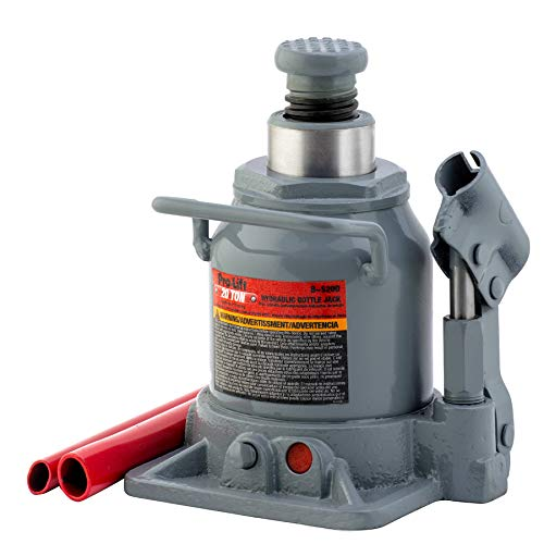 Pro-LifT B-S20D Grey Hydraulic Bottle Jack - 20 Ton Capacity