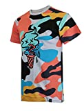 SCREENSHOT-S11076 Mens Urban Premium Hipster Streetwear Tee - Modern Melting Ice Cone Cartoon Camo Pattern Print T-Shirt-Grey-Small