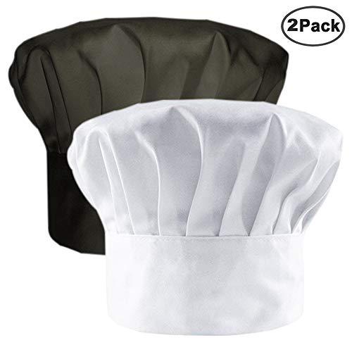 IHUIXINHE Kochmütze Chef Works Hat Cooking Restaurant Prep Start Küchen-Geschenk-Hut 2 Stück