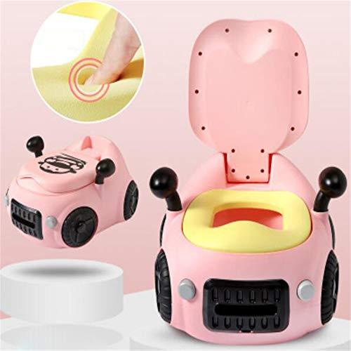Bébé toilette de toilette voiture WC pour enfants entraîneur de toilettes siège chaise confortable Portable Pot enfants pour bébé pour enfant en bas âge multifonctionnel créativité voiture jouet,Pink