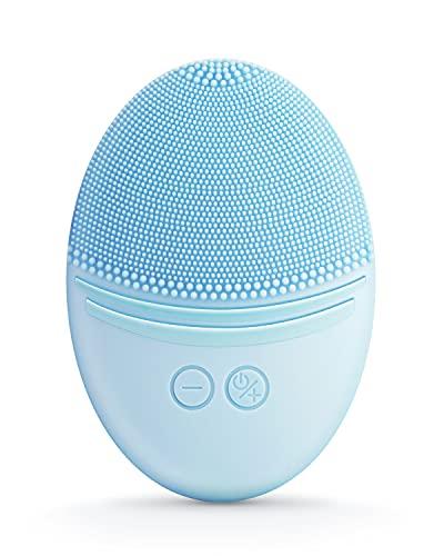 EZBASICS Gesichtsreinigungsbürste Elektrische Gesichtsbürste Ultrahygienischem Weichem Silikon, Wasserdichte Ultraschall Vibration Gesichtsbürste für Tiefenreinigung, Sanftes Peeling und Massage