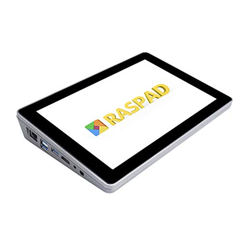SunFounder RasPad 3.0 - Tragbarer Raspberry Pi Tablet-Akku, Raspberry Pi 10,1-Zoll-Touchscreen und Audio in einem kompatibel mit Raspberry Pi 4B für IoT/AI/Autopilot-Projekte