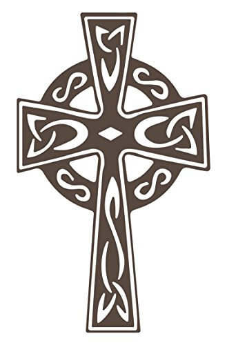 Celtic Cross Wall Decal (Brown, 36' (H) X 22' (W))