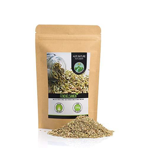 Semillas de hinojo (250g), hinojo entero, 100% natural, semillas de hinojo naturalmente sin aditivos, vegano