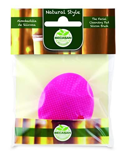 Becasan Nature - Limpiador Facial Disco Almohadilla de Silicona Rosa - Natural Style