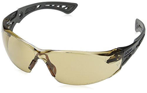 Bollé - Gafas de seguridad (revestimiento de platino, cristales semi-oscuros)
