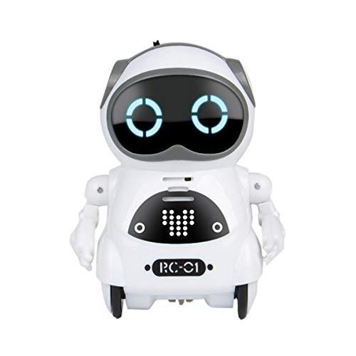 Mini Robot Giocattolo per Bambini Robot Giocattolo Intelligente Dialogo Parlante Interattivo Riconoscimento Vocale Registra Canto Danza Racconto di Storie Mini Robot Tascabile Educativo