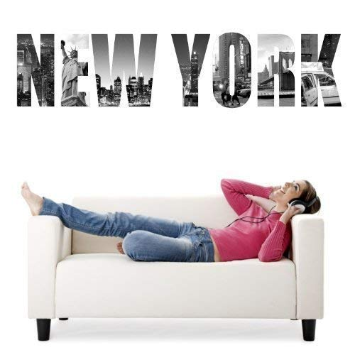Scelet 1 Pcs New York Statue de la Libert/é Wall Art Autocollant et Ic/ônes Stickers muraux