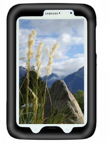 Bobj Silikon-Hulle Heavy Duty Tasche fur Samsung Galaxy Note 8 Tablet, Modelle GT-N5100, GT-N5110, GT-N5120 - BobjGear Schutzhulle (Schwarz)