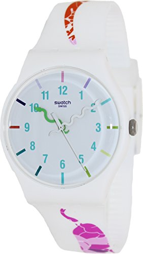 Swatch Unisex polshorloge The Legend of White Snake analoog kwarts siliconen SUOZ158