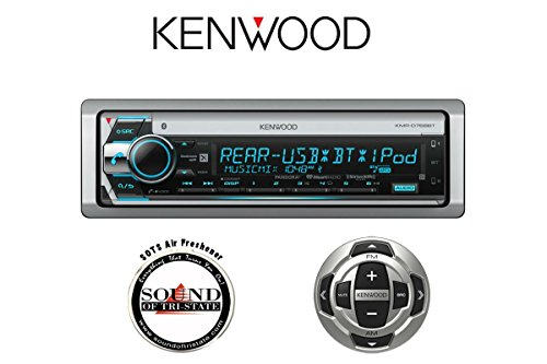 Sound of Tri-State Kenwood KMR-D768BT Marine CD Receiver w/KCA-RC35MR Wired Remote and a SOTS Air Freshener