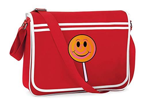 Druckerlebnis24 Schultertasche - Lutscher Sauger Lächeln Am - Umhängetasche, geeignet für Schule Uni Laptop Arbeit