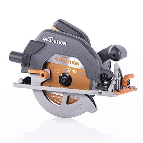 Evolution Power Tools R185CCS Multi-Material Circular Saw, 1600 W, 230 V-Domestic