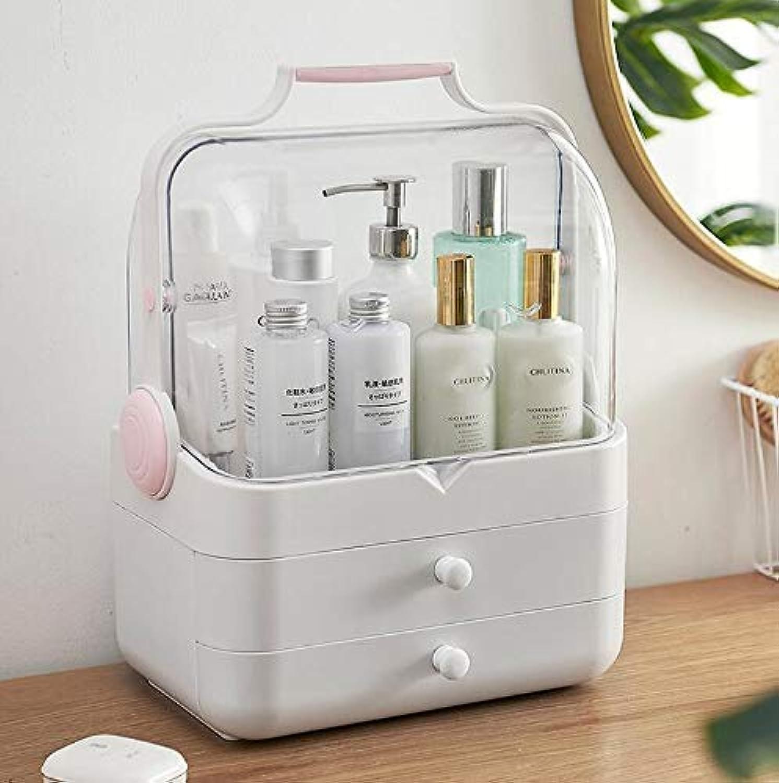 Tragbare highend flip Kosmetische Aufbewahrungsbox arbeitsplatte Hautpflegeprodukte Makeup Organizer für Badezimmer Schlafzimmer Eitelkeit Countertop, pink