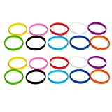 Grifiti Band Joes 3 x .25 Silicone Rubber Bands Wallet Card Wrist Cooking Durable Boxes Wraps 20 Pack Assorted Colors