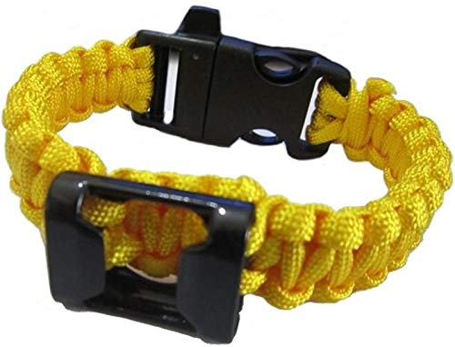 Zdj Bequemlichkeit Handgewebte Korkenzieher Armband Korkenzieher mit Kompass, Geeignet for Camping Outdoor-Picknick Bar (Color : Yellow)