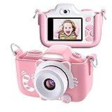 Kriogor Appareil Photo pour Enfants, Caméscope Selfie pour Appareil Photo Numérique pour Petites Filles, 2 Pouces LCD / 1080P HD...