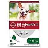 K9 Advantix II Flea and Tick Prevention for Small Dogs 6-Pack, 4-10 Pounds