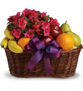 Fruits and Flowers Gift Basket by Mr. Bokay Flowers & Greenhouse Nationwide Florist