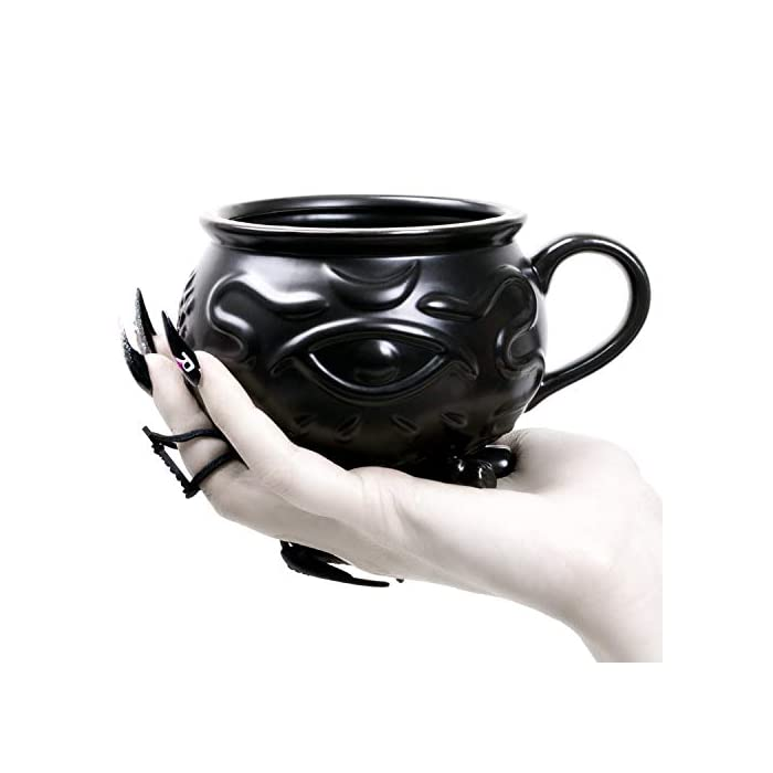 Witch Cauldron Coffee Mug In Gift Box By Rogue Wolf Porcelain 3d Novelty Mugs Gothic Tea Cup Witches Goth Decor Witchcraft Wicca Supplies 14 Oz 400ml